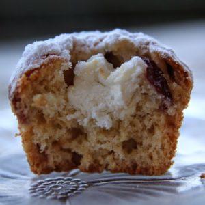 Muffinki z serem i żurawiną