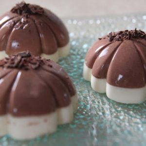 Panna cotta podwójnie czekoladowa