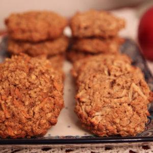 Bezglutenowe ciasteczka owsiane z marchewką lub jabłkiem (także w wersji z glutenem :))