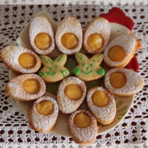 Wielkanocne jaja - kruche ciasteczka z lemon curd