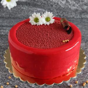 Tort musowy red velvet