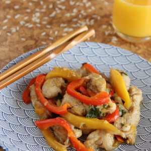 Polędwica wieprzowa z mango po chińsku